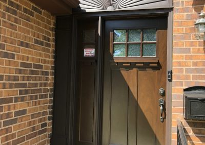 new exterior door installation